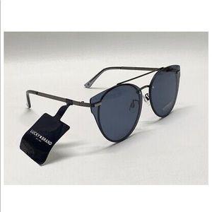 Lucky Brand 🍀 Cat 🐱 Eye Sunglasses 😎 Gun Metal